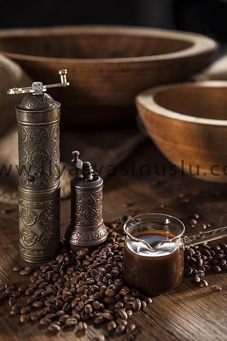 glass coffee pot and coffee grinders