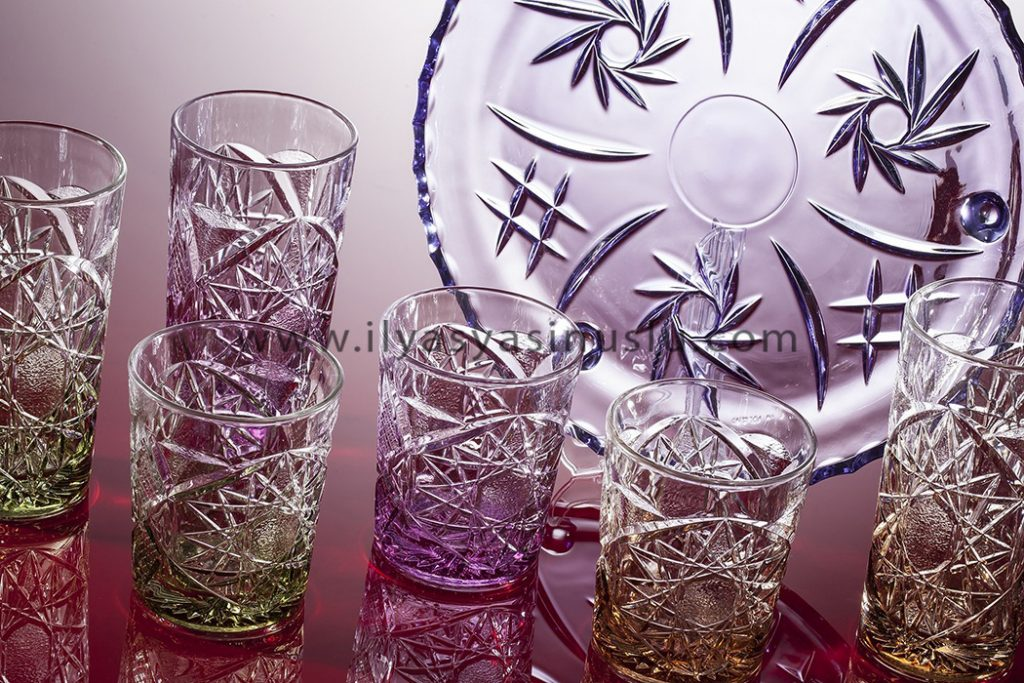 photographing concept glassware